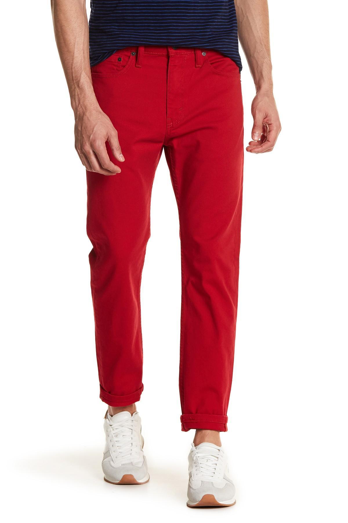 levi 39 s 510 skinny fit scooter jean 29 36 inseam in red for men lyst. Black Bedroom Furniture Sets. Home Design Ideas