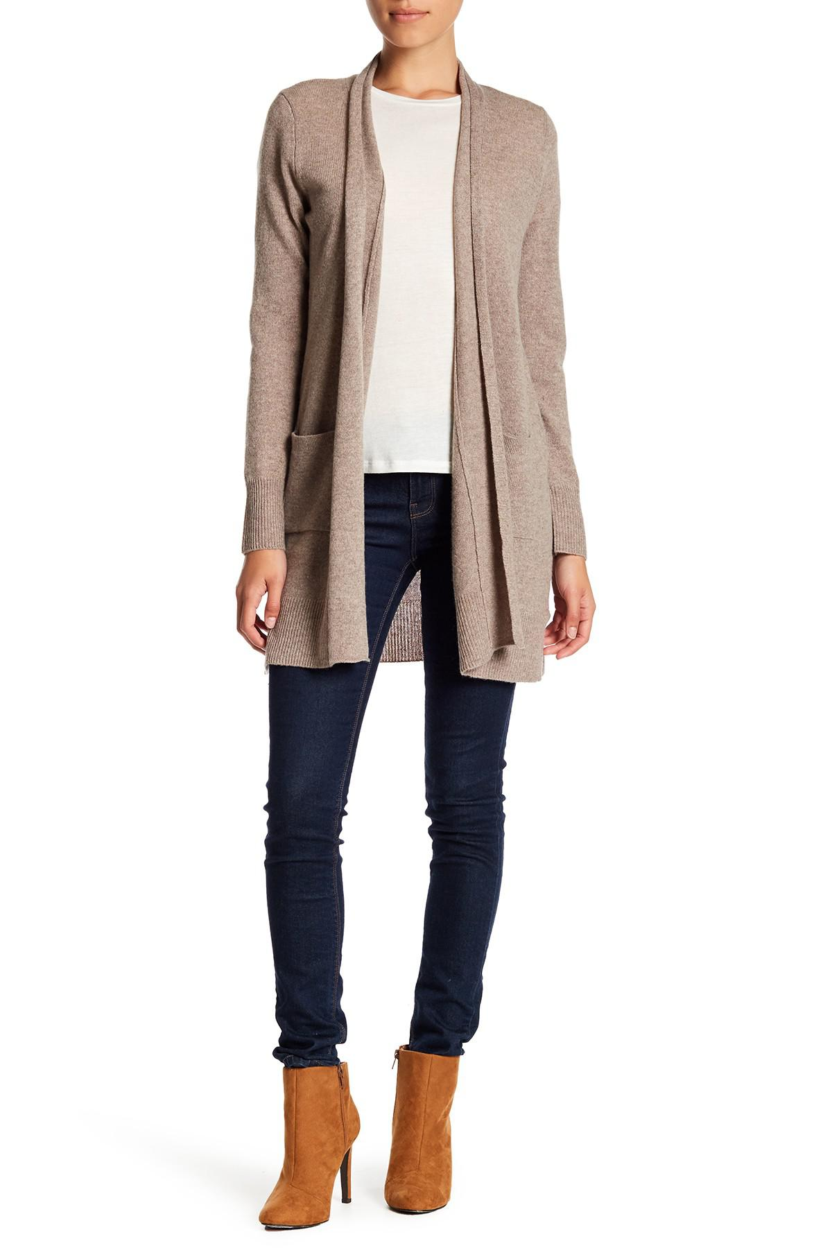 Philosophy apparel Cashmere Duster Cardigan (petite) in Natural | Lyst