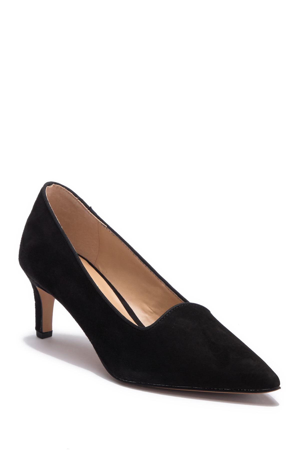 87bc76d4b08 Lyst - Franco Sarto Danelly Suede Kitten Heel Pump in Black - Save 45%