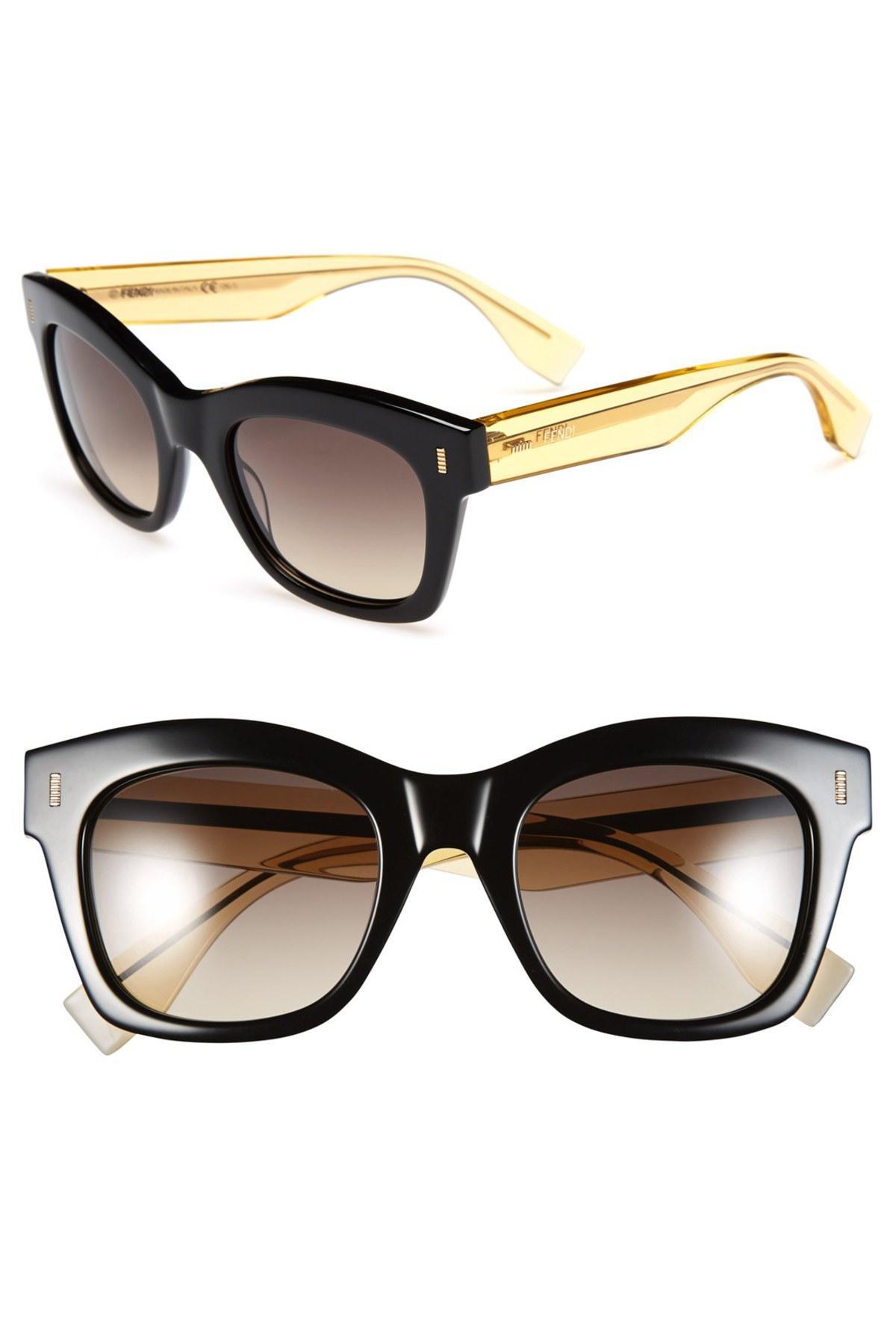 045ebb31e551 Lyst - Fendi 50mm Retro Sunglasses in Black