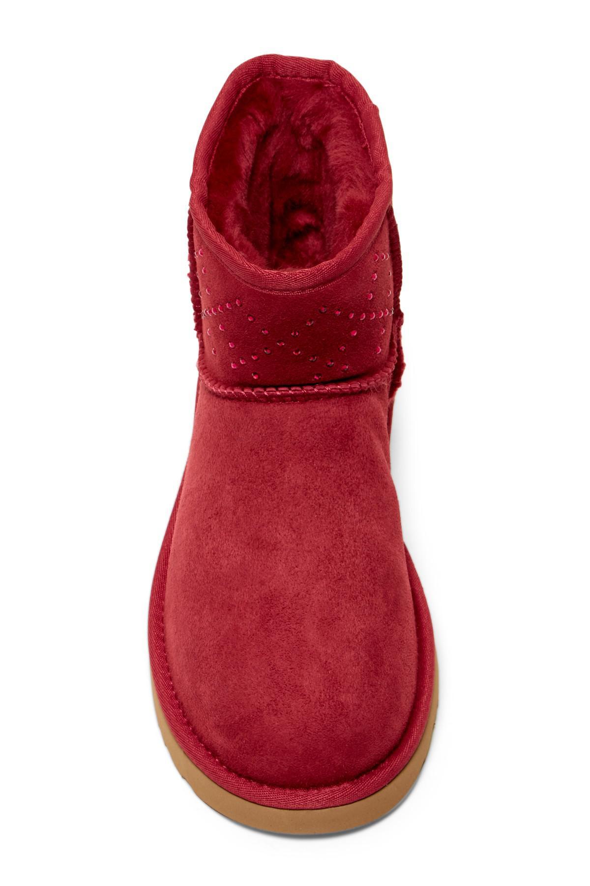 2a1328b3cc0 Ugg Red Classic Mini Swarovski Crystal Boot