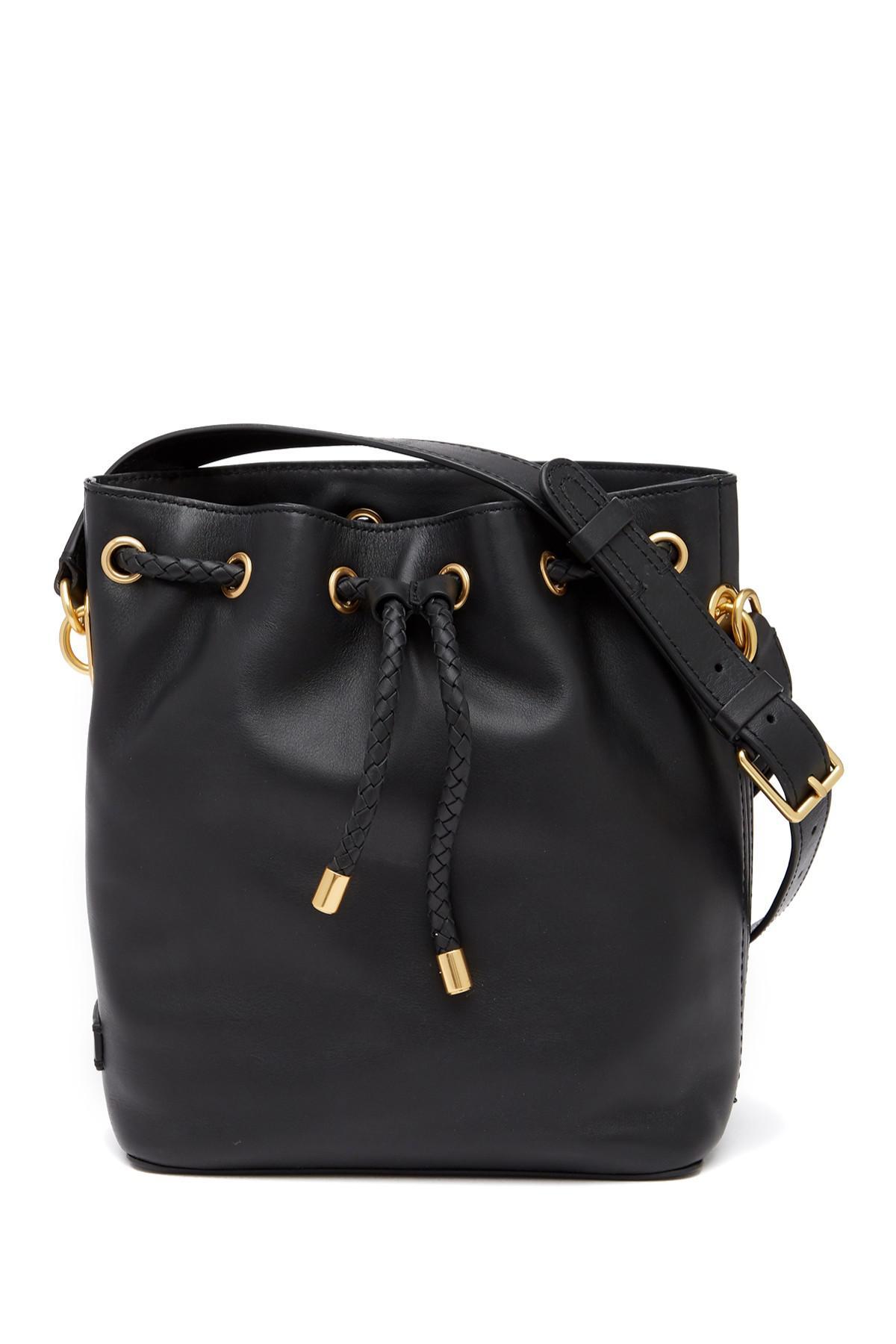 Lyst - Cole Haan Benson Ii Leather Drawstring Bucket Bag in Black d6efaddd8d