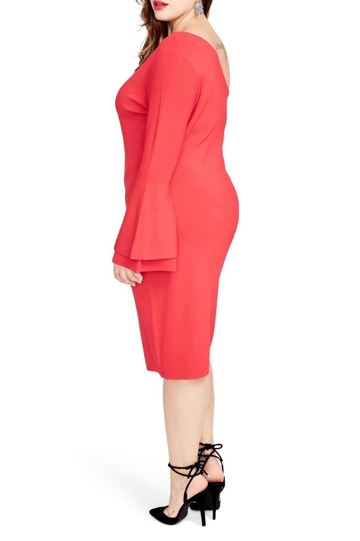 bb29b84c44042 RACHEL Rachel Roy - Red One-shoulder Knit Sheath Dress (plus Size) -. View  fullscreen