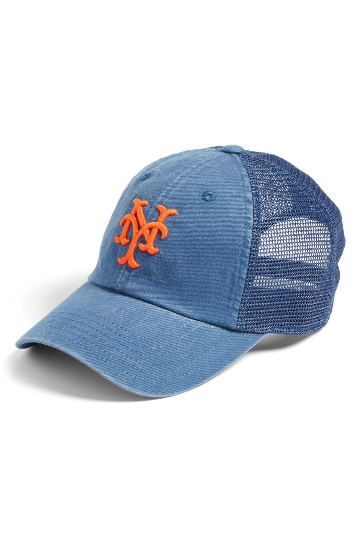 Lyst - American Needle Raglan Bones - New York Mets Trucker Hat in ... cb0cc3cbe5fb