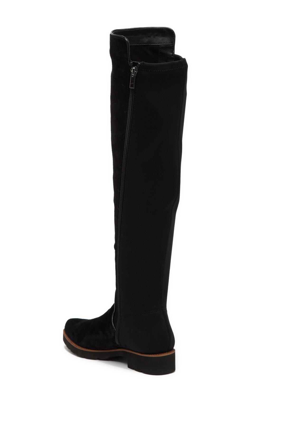 b0e452c65d1 Lyst - Franco Sarto Benner Suede Over-the-knee Boot in Black