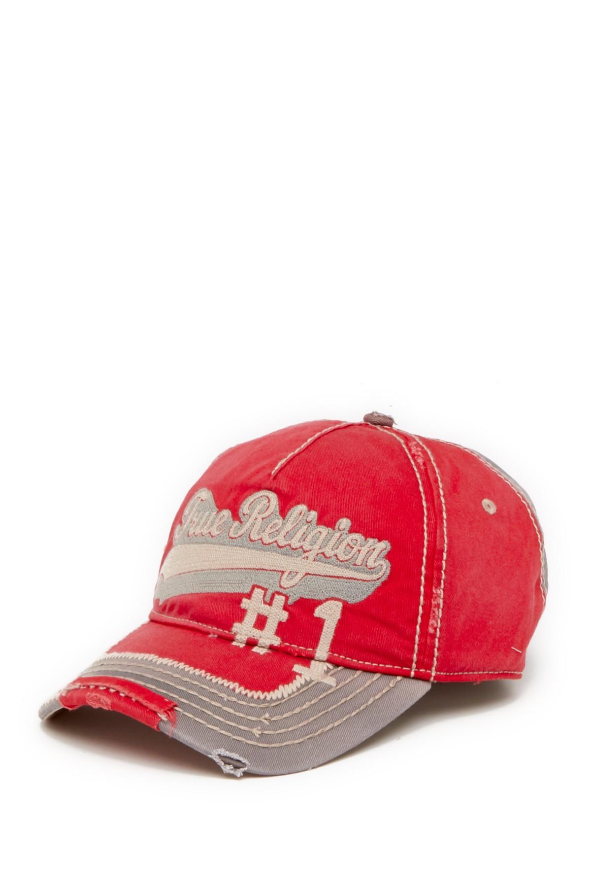 a068b75c Lyst - True Religion 'script' Baseball Cap in Red for Men