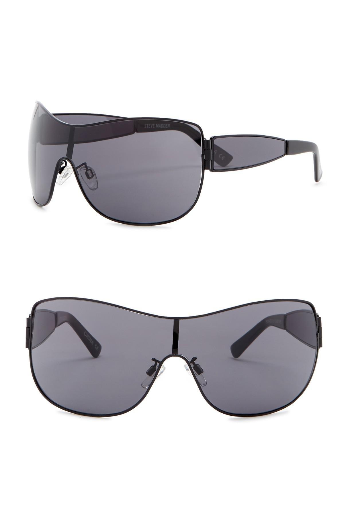 b99d5f70d54 Lyst - Steve Madden 135mm Shield Sunglasses in Gray
