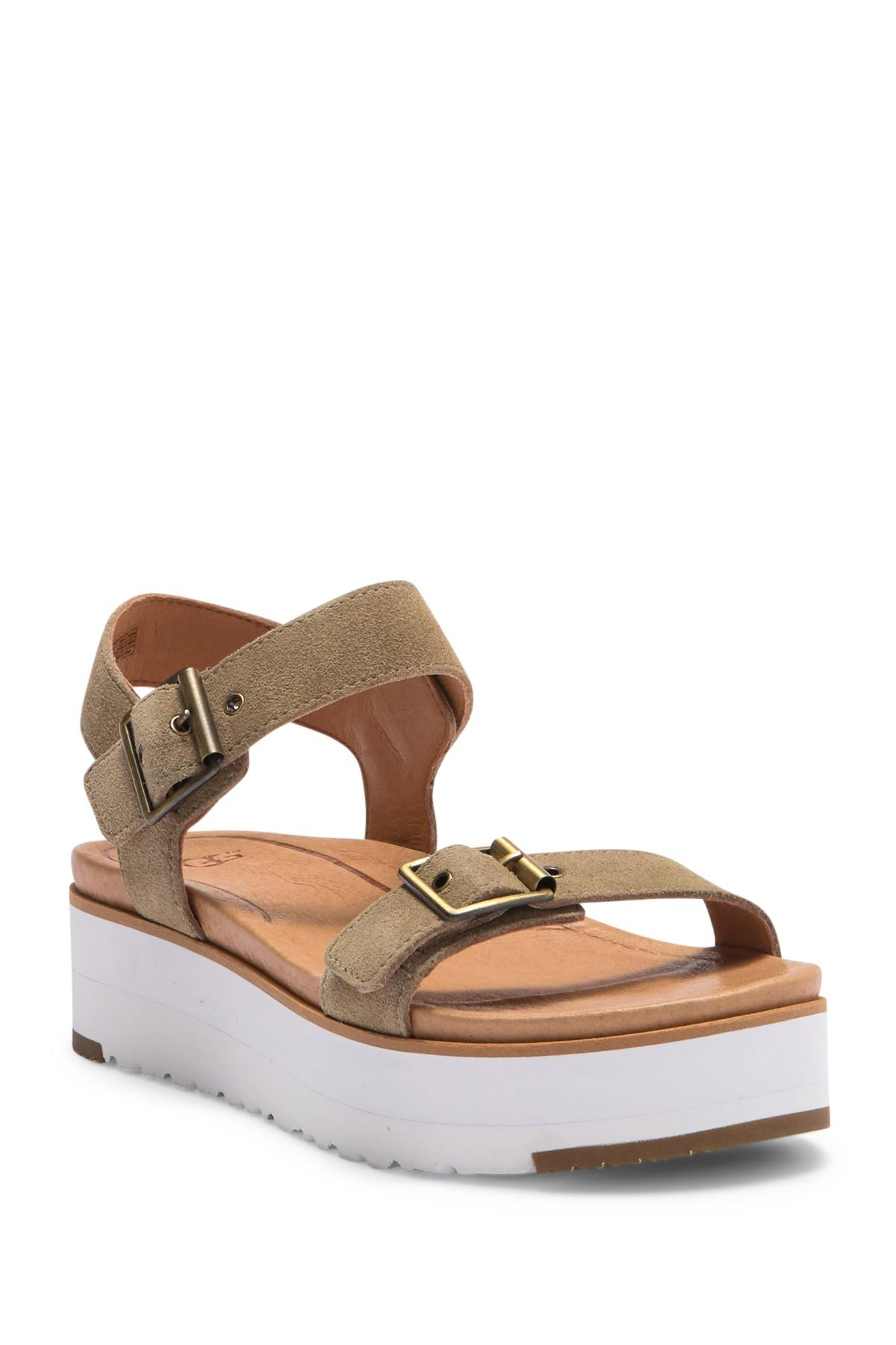 0d6f6b916f9 Lyst - UGG Angie Suede Platform Sandal in Brown - Save 13%