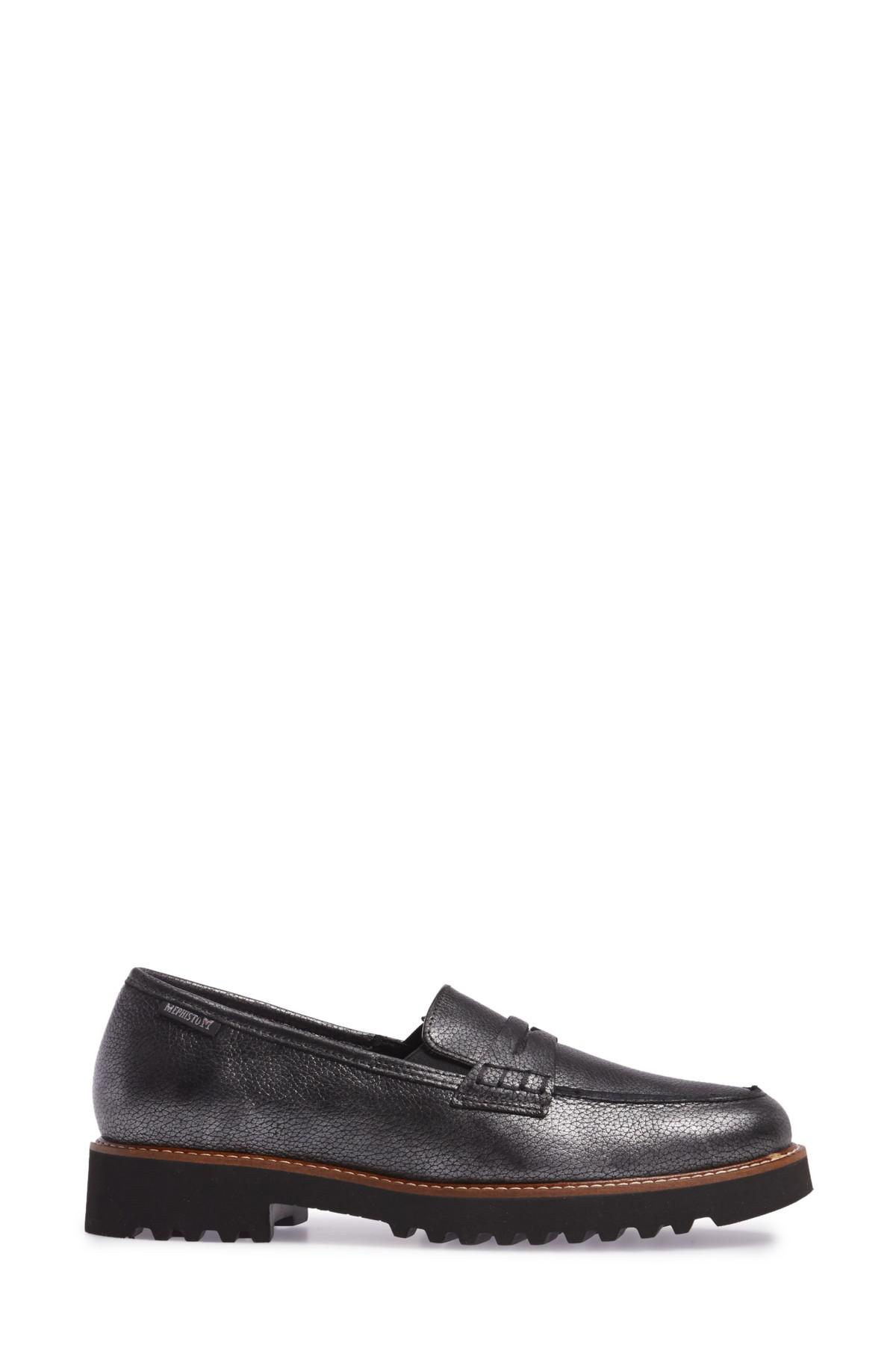 Mephisto Sidney Penny Loafers in Black