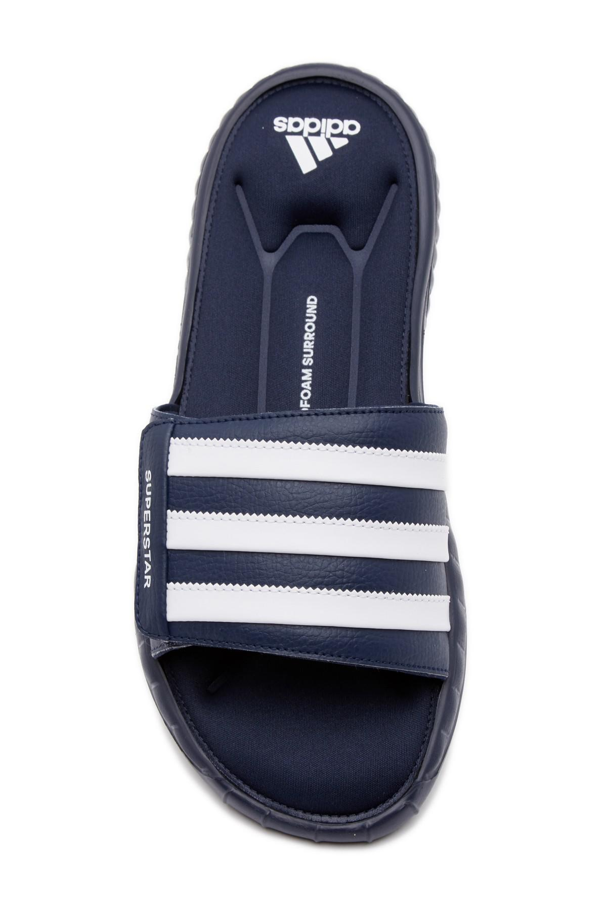 81ceb7e709e35 Lyst - adidas Superstar 3g Slide Sandal (men s) in Blue for Men