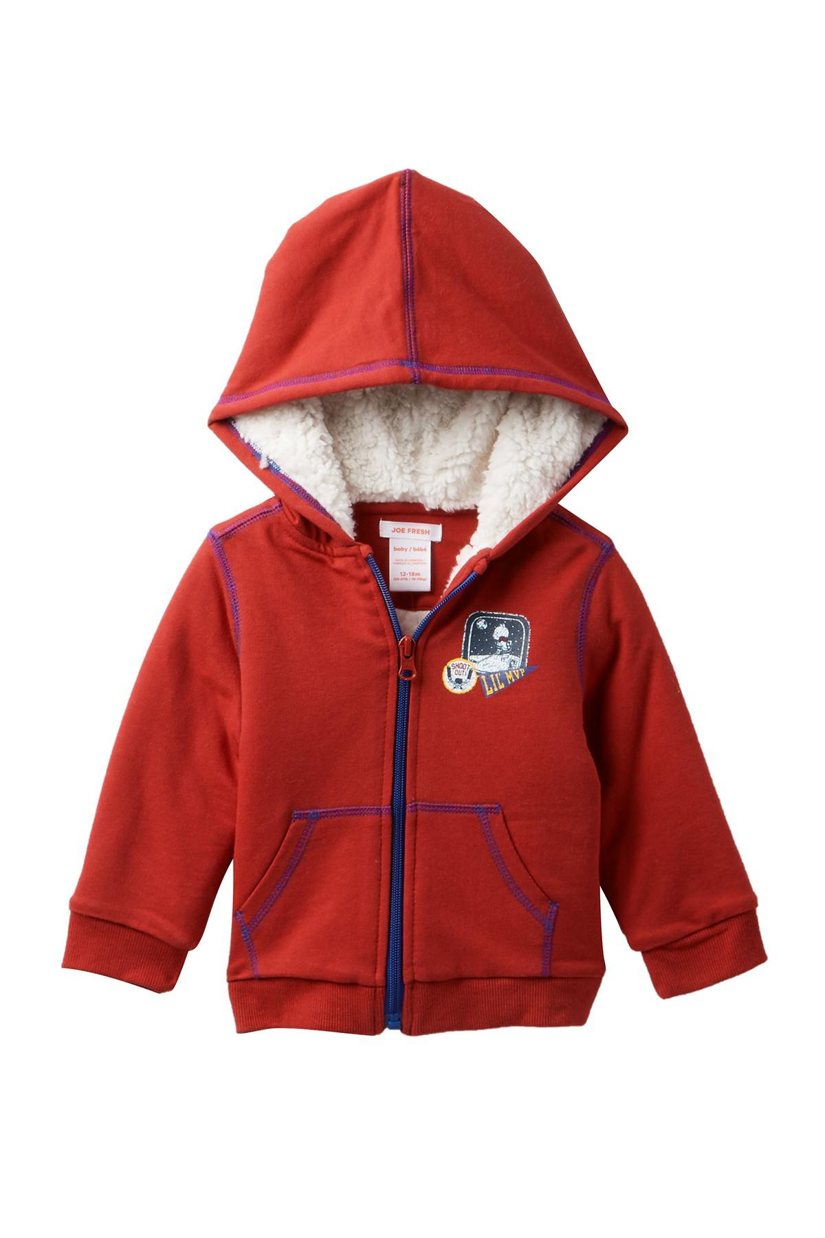 77223a3f4 Lyst - Joe Fresh Faux Fur Lined Hoodie (baby Boys) in Red for Men