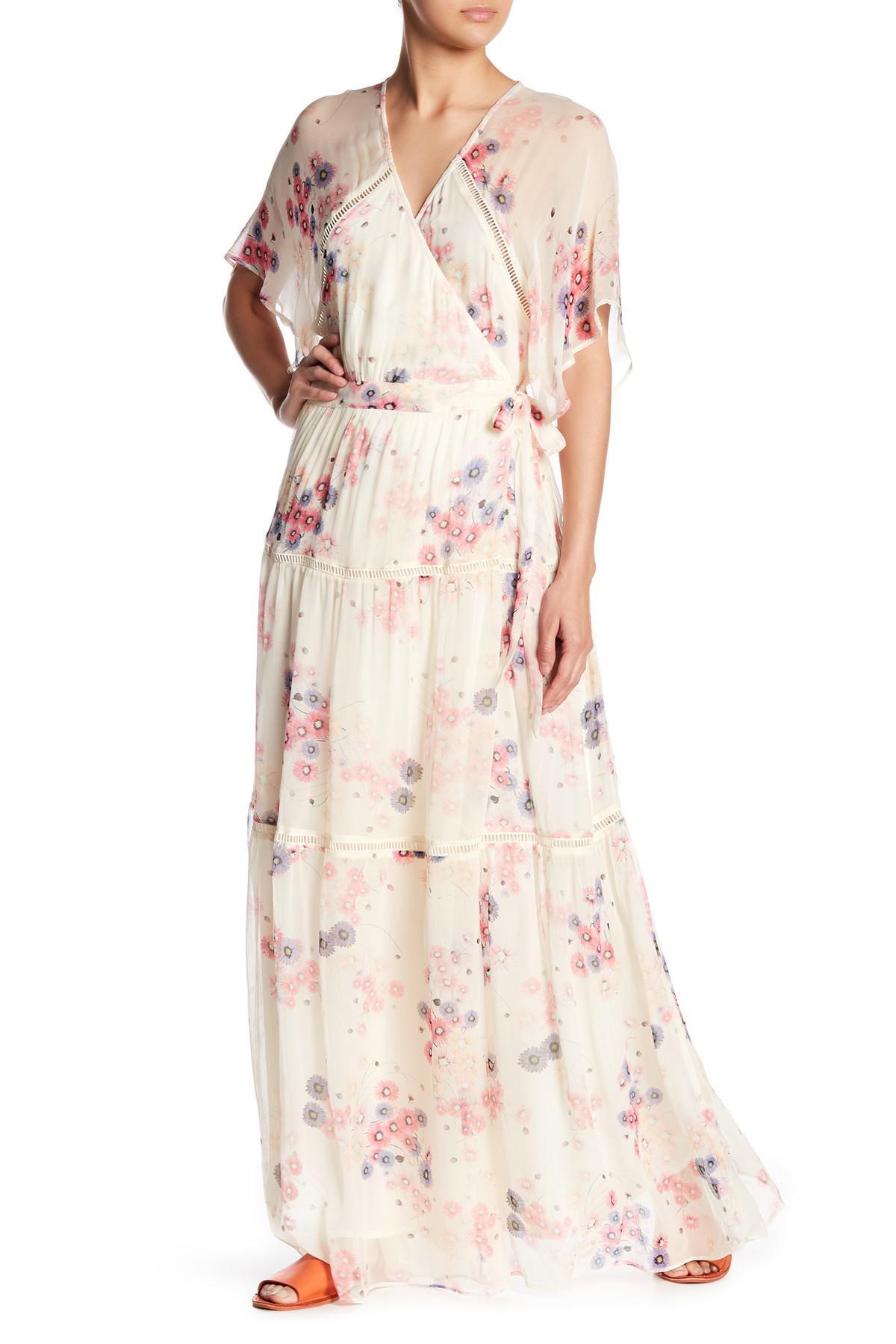 3f388b711d Lyst - Love Sam Lily Print Surplice Maxi Dress