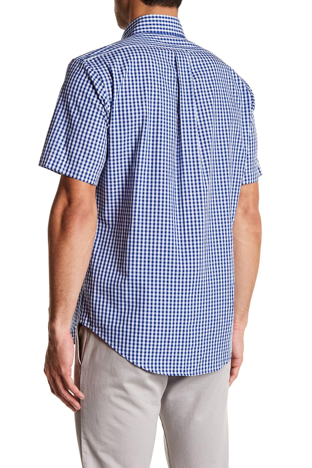 Lyst - Brooks Brothers Gingham Print Short Sleeve Shirt in ...