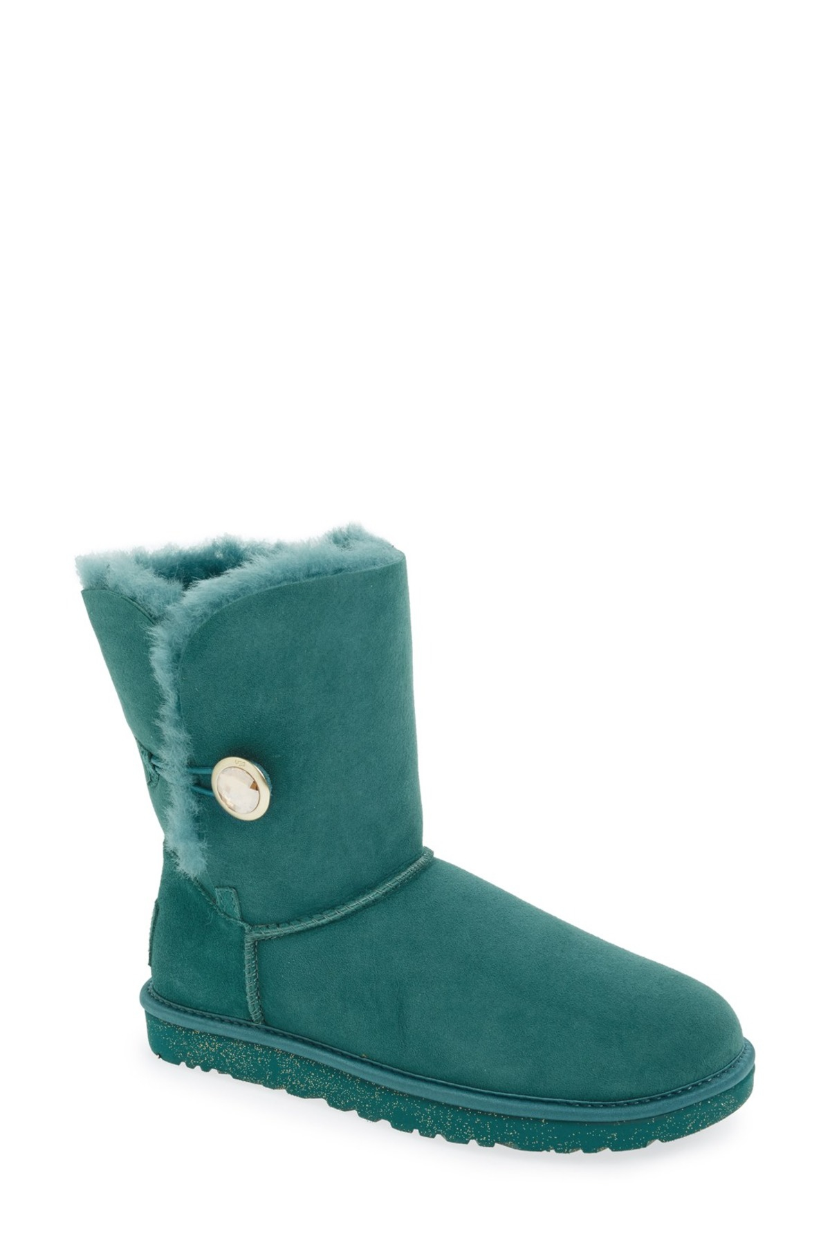 885e4b71851 UGG Green Bailey Button Ornate Genuine Shearling Lining Boot