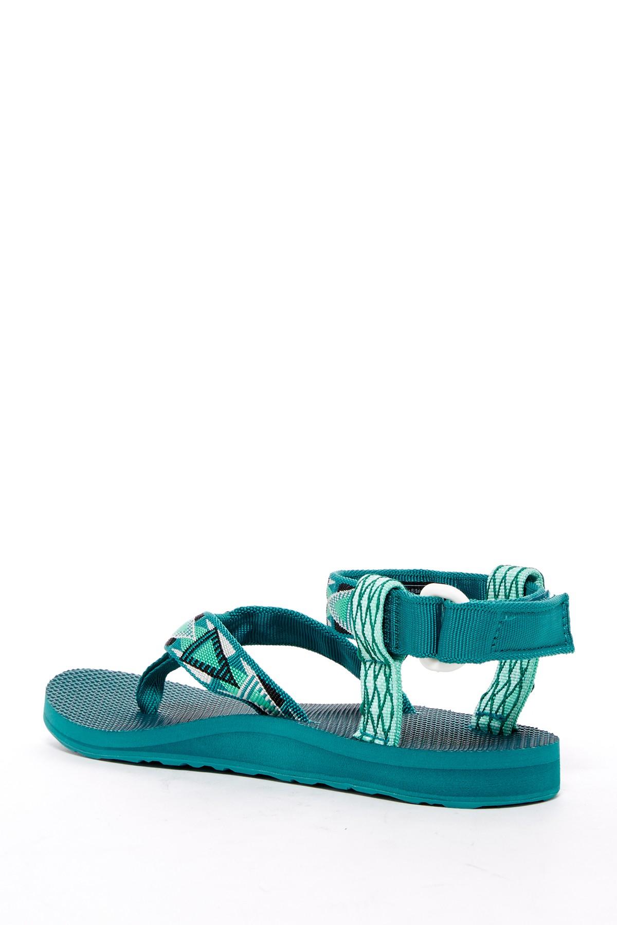 Lyst Teva Original Thong Platform Sandal In Green