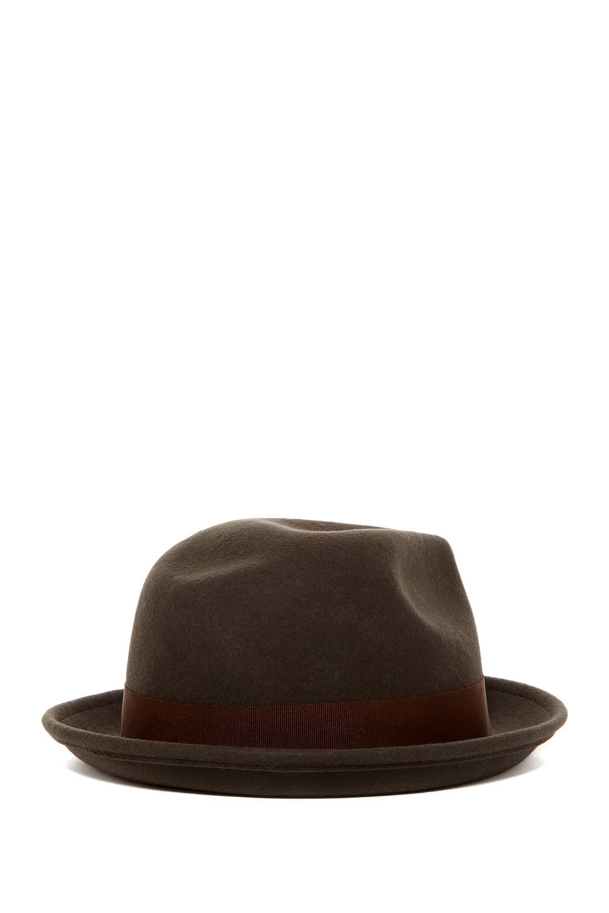 0610d7c08b2f6d Lyst - Goorin Bros Rude Boy Wool Fedora in Brown for Men