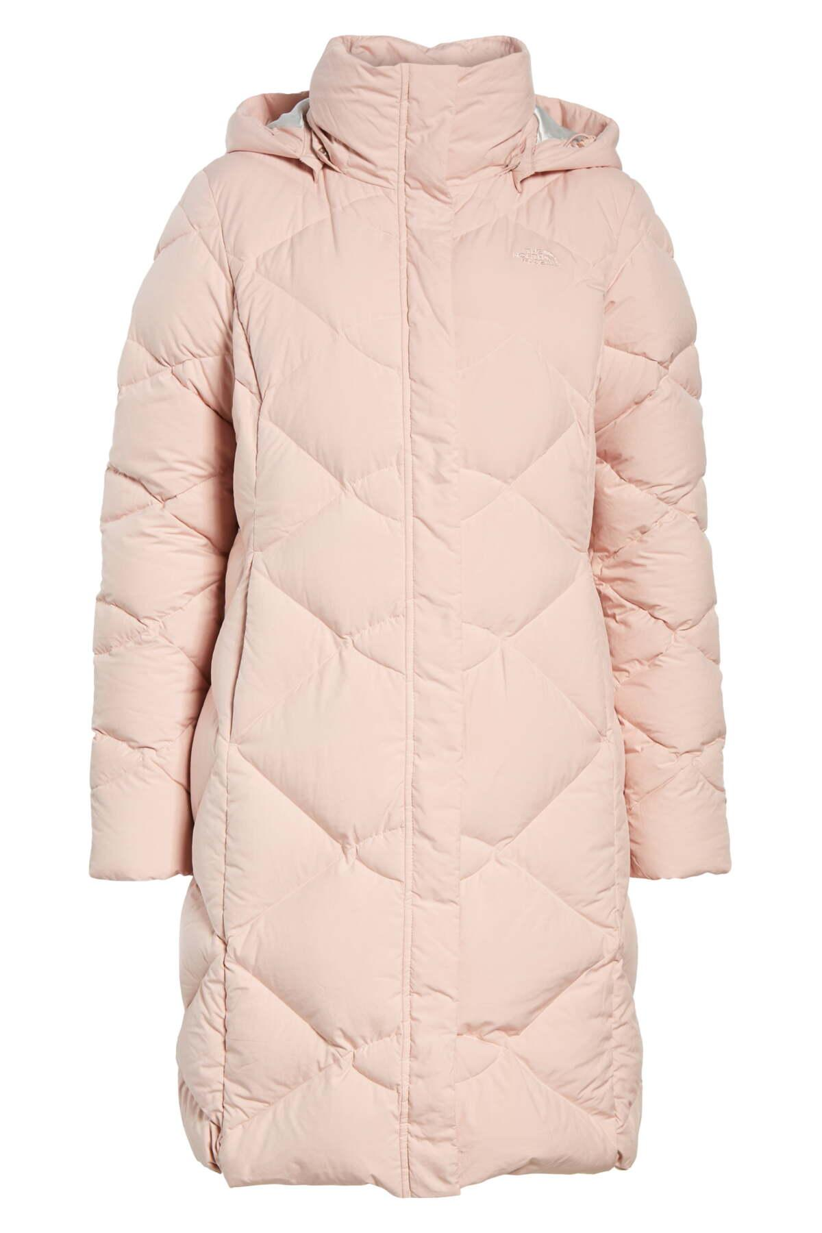 a3b48a704 The North Face Pink Miss Metro Ii Water Repellent 550 Fill Power Down  Hooded Parka