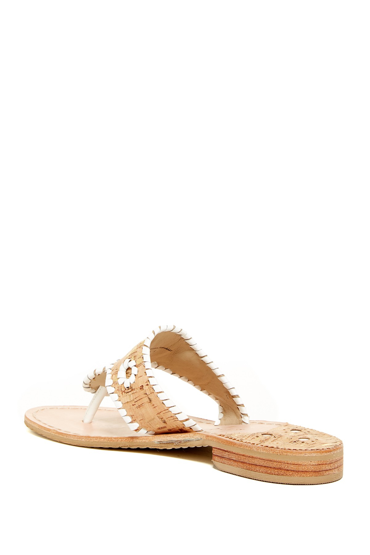 lyst jack rogers napa valley sandal in white  gucci house slippers