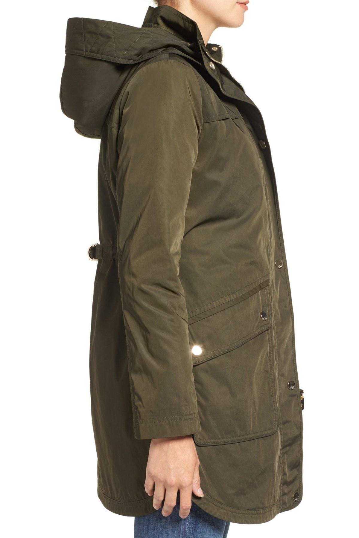Green Hooded Parka J Eliza Repellent Water E2hid9 9EDH2I