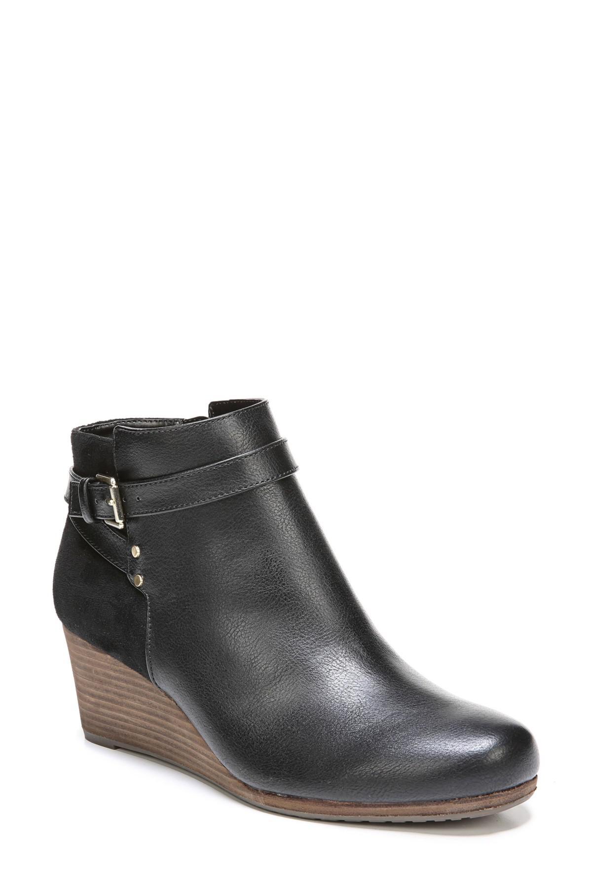 91d3079eaf1 Lyst - Dr. Scholls Double Wedge Bootie (women) in Black