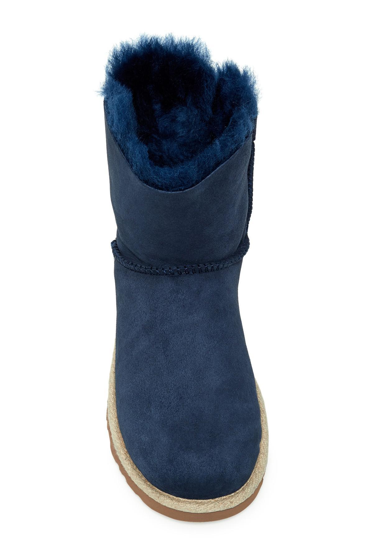 45fef4217a0 Ugg Blue Selene Genuine Shearling Fur Boot