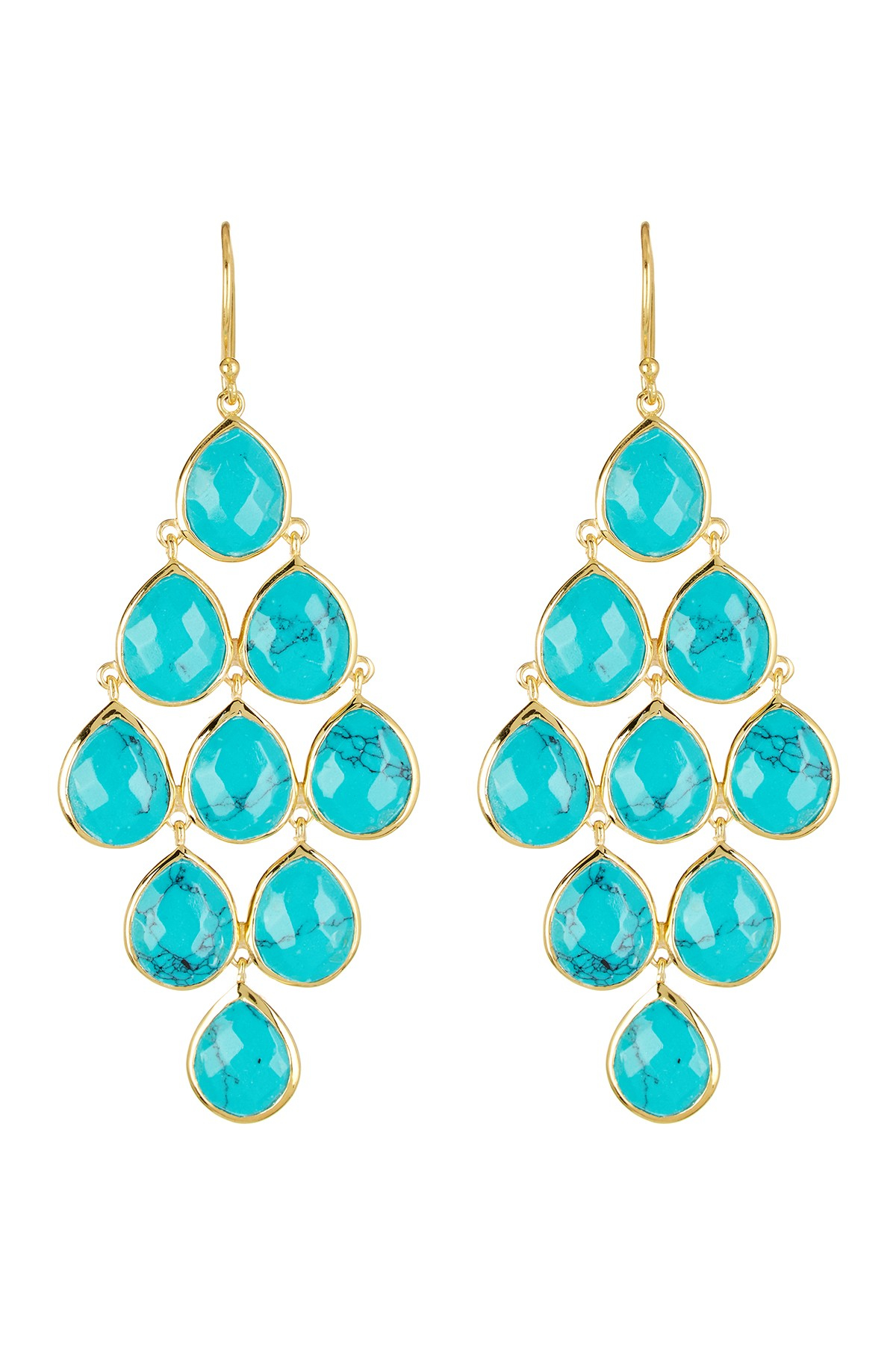 Argento Vivo 18k Gold Plated Sterling Silver Turquoise