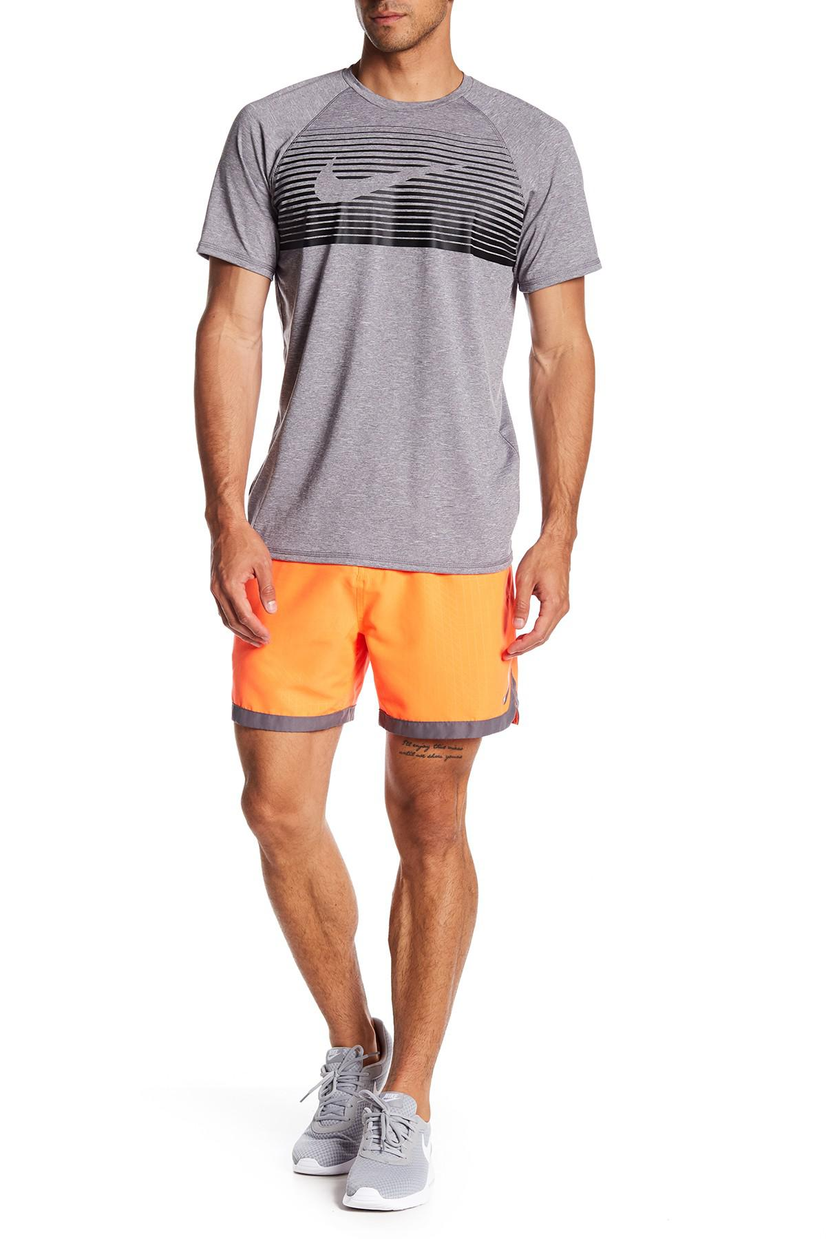 Nike Synthetic Horizon Mid Rise Board Shorts in Orange for ...