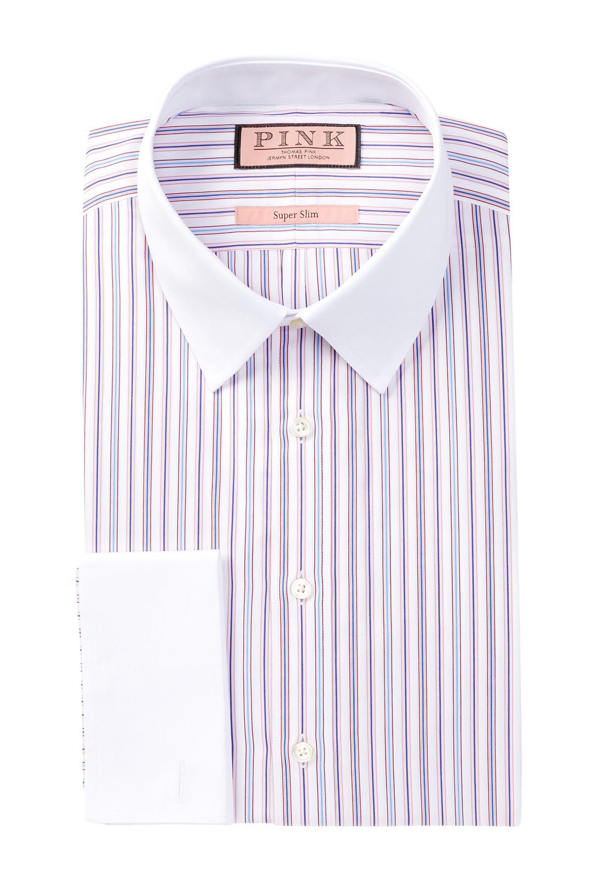 Thomas Pink Hedley Long Sleeve Super Slim Fit Dress Shirt