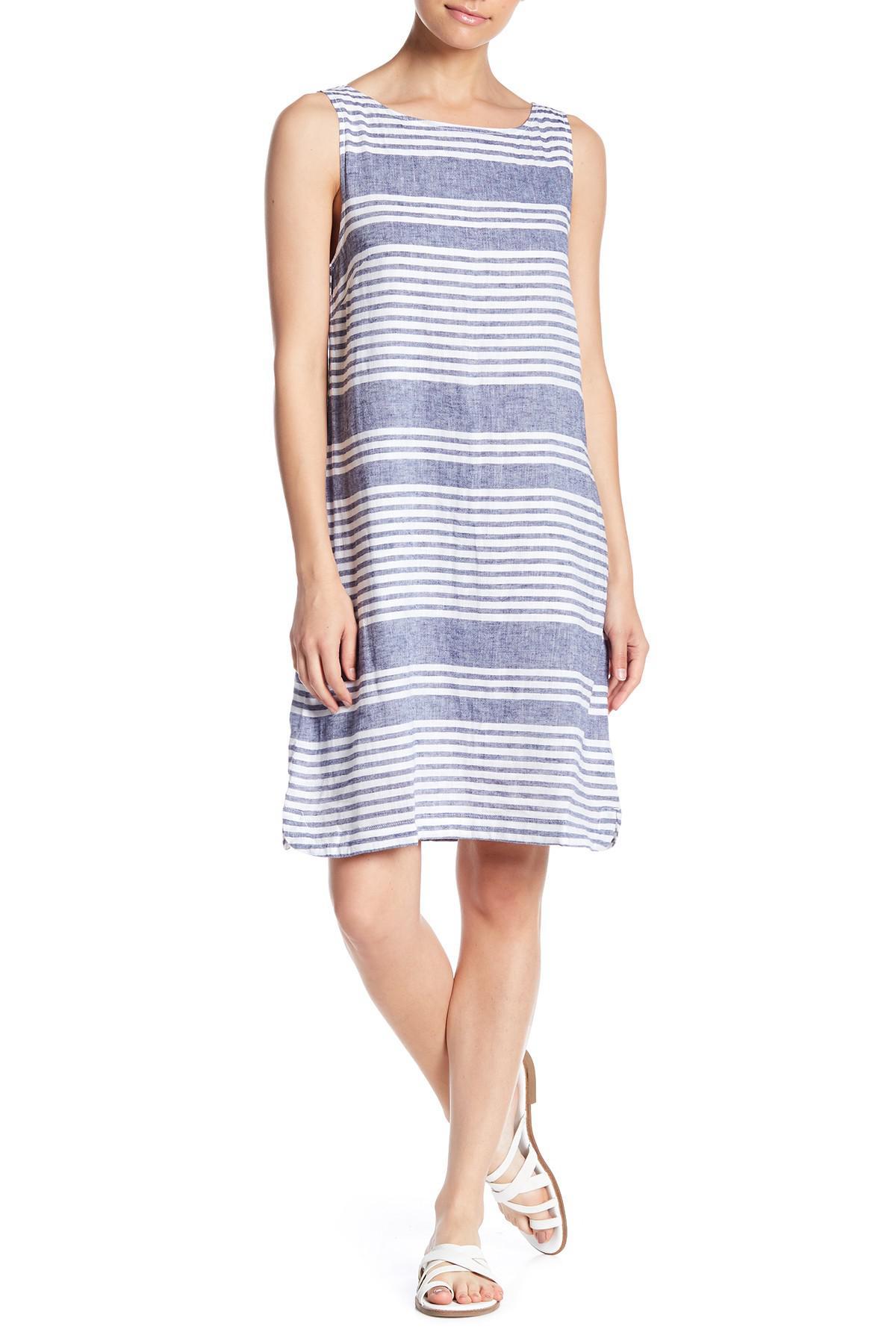 8a57a65237 Beach Lunch Lounge Alina Linen Blend Dress in Blue - Lyst