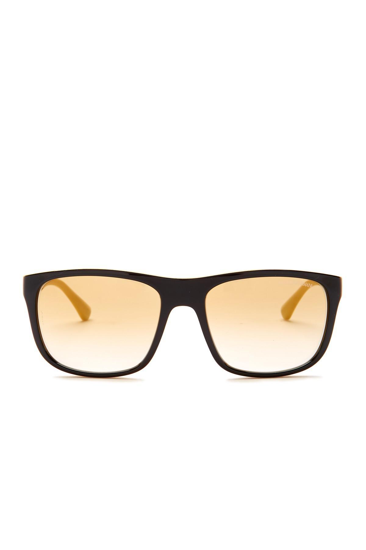 62f80239def0 Lyst - Emporio Armani 56mm Wayfarer Acetate Frame Sunglasses in ...