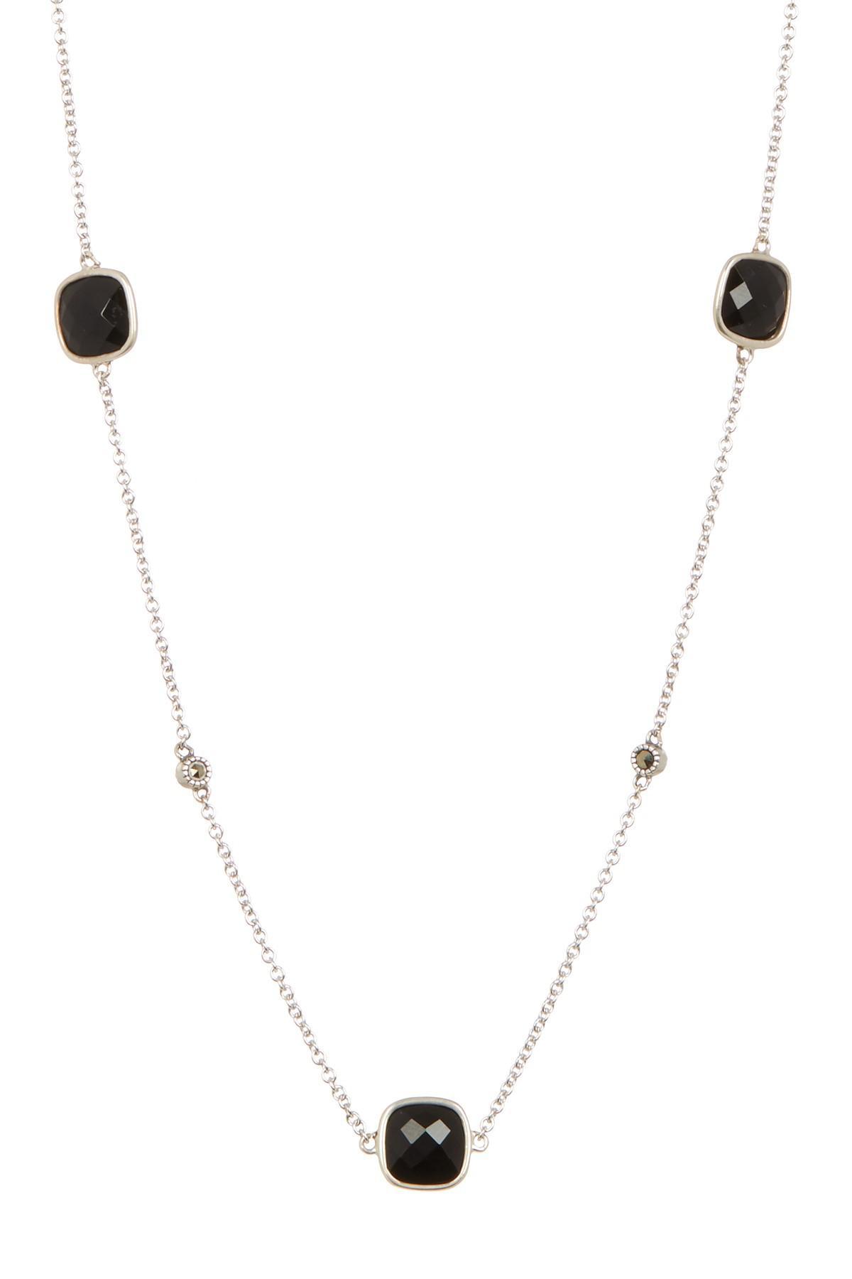 de61fa703 Judith Jack Sterling Silver Black Agate & Swarovski Embellished ...