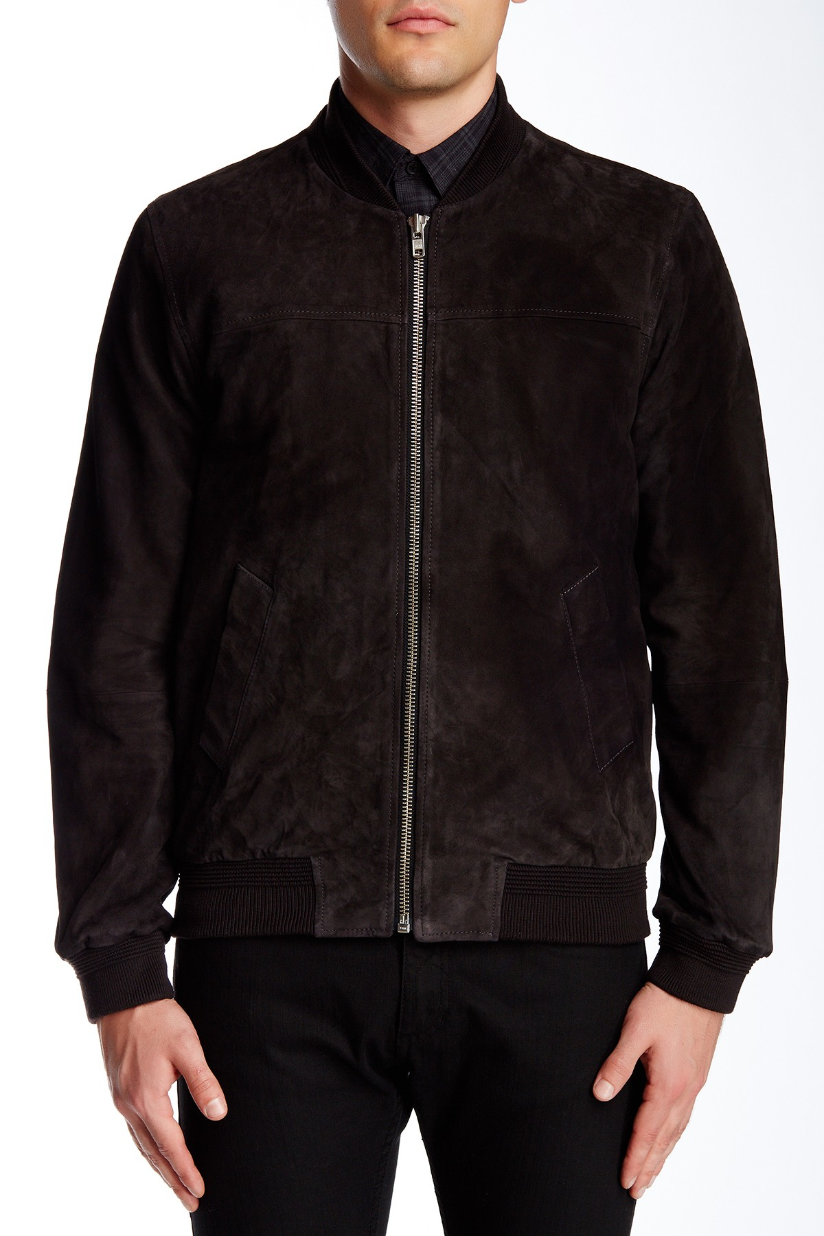 Slate And Stone Clothing : Slate stone suede coat in black for men lyst