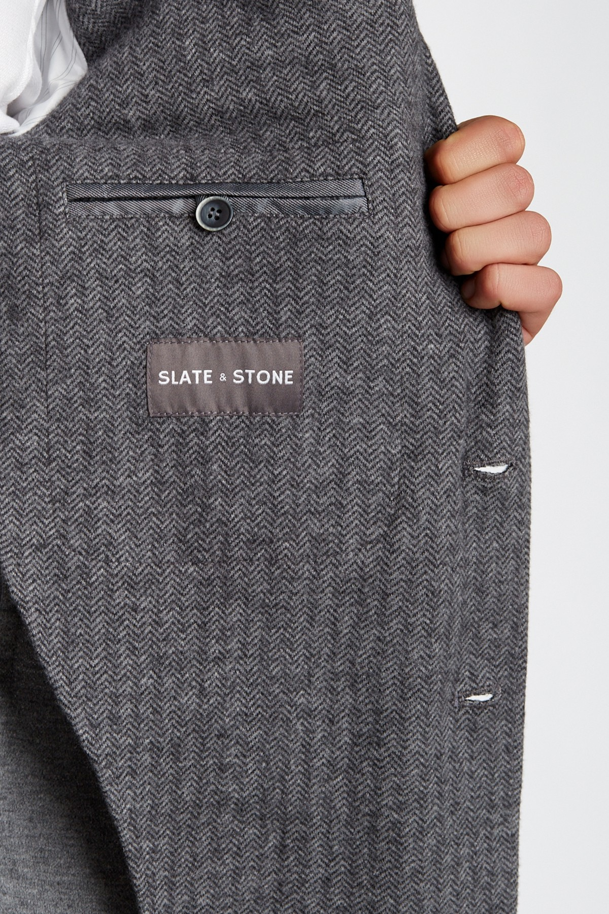 Slate And Stone Clothing : Slate stone quilted knit blazer in gray for men lyst