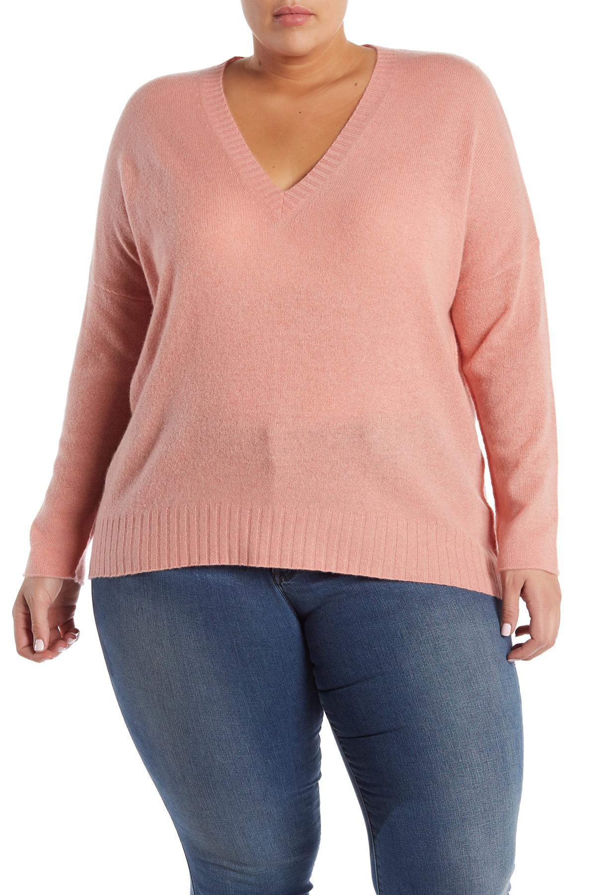 c5229ca9d9f NAKEDCASHMERE. Women s Skyler V-neck Cashmere Pullover (plus Size)