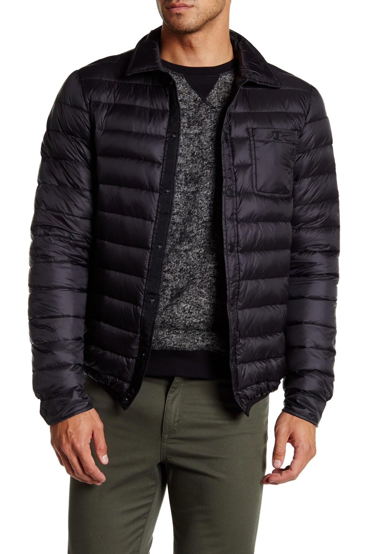 Slate And Stone Clothing : Lyst slate stone light feather down jacket in black