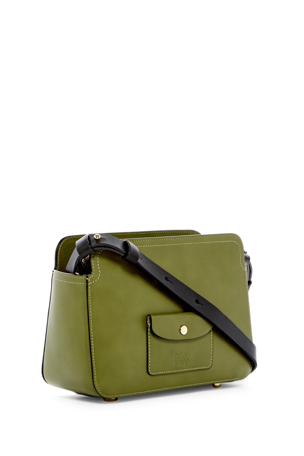d7d3752c26f67 Lyst - Orla Kiely Embossed Stem Small Jeanette Leather Bag in Green