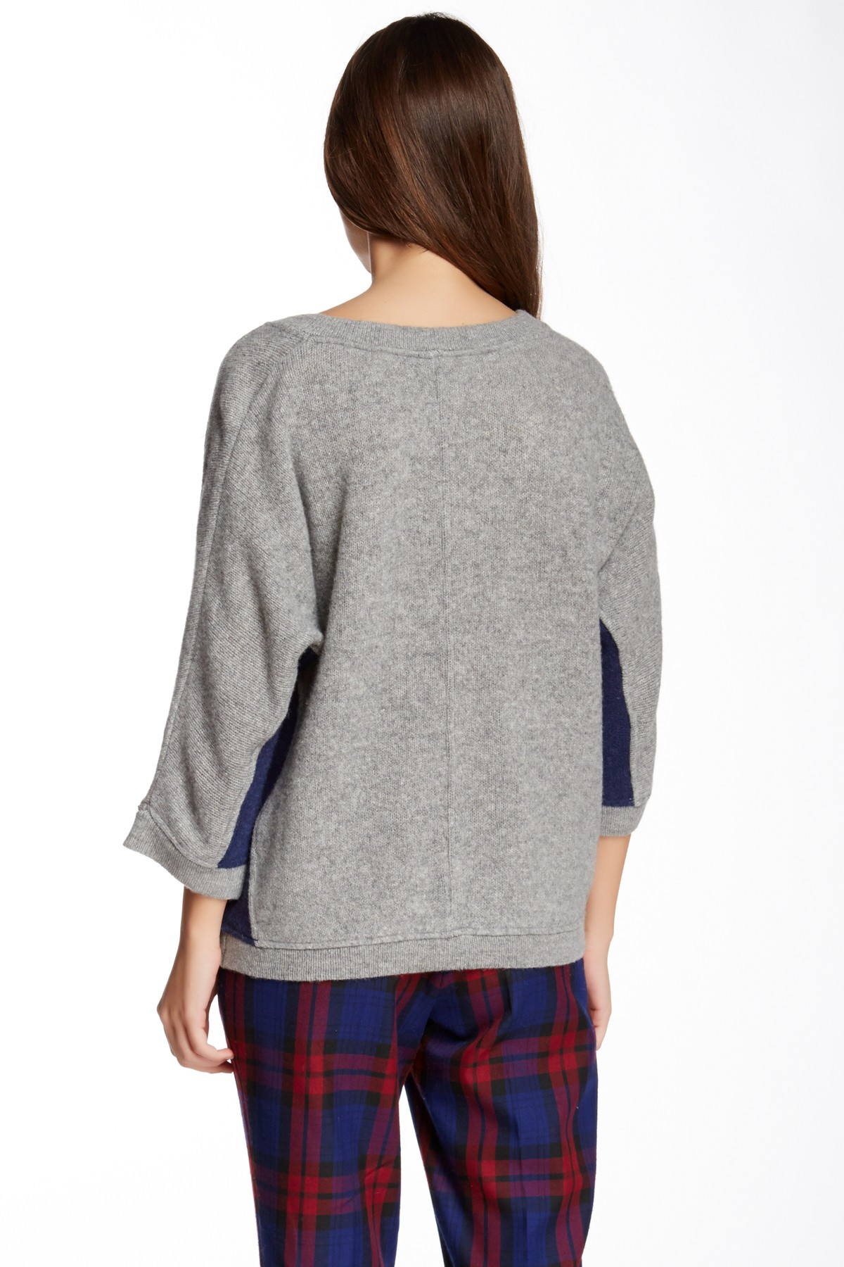 Lyst - Shae V-neck Wool Pullover Sweater in Gray