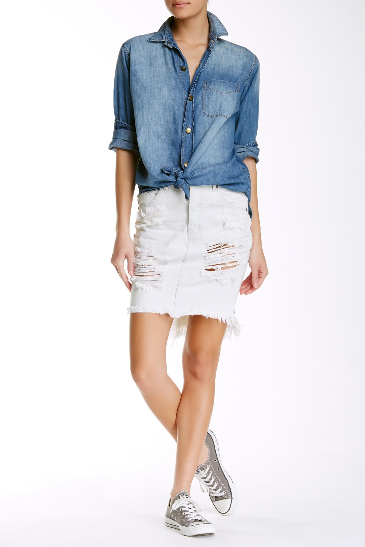 Lyst - One Teaspoon 2020 Skirt in White