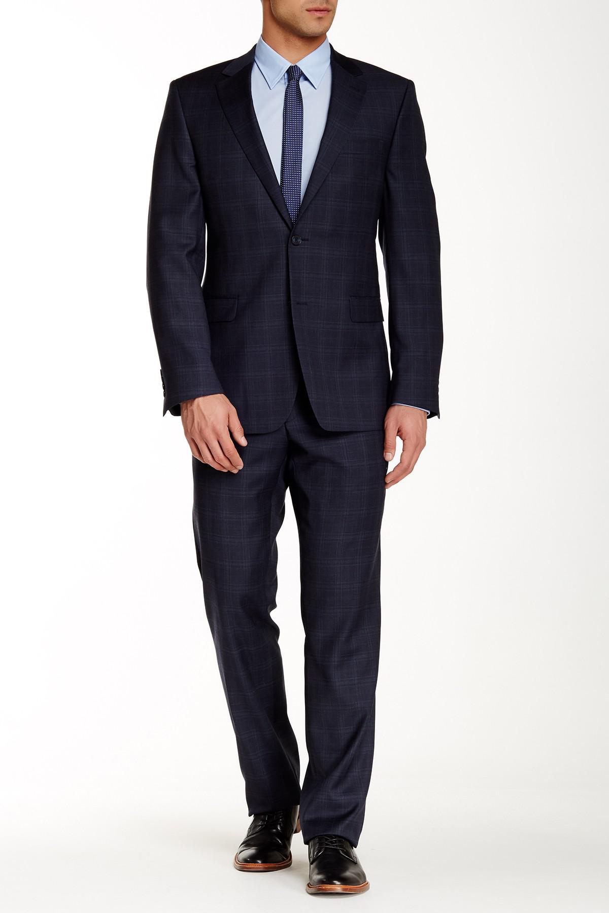 Lyst Ike Behar Pandora Wool Suit In Blue For Men