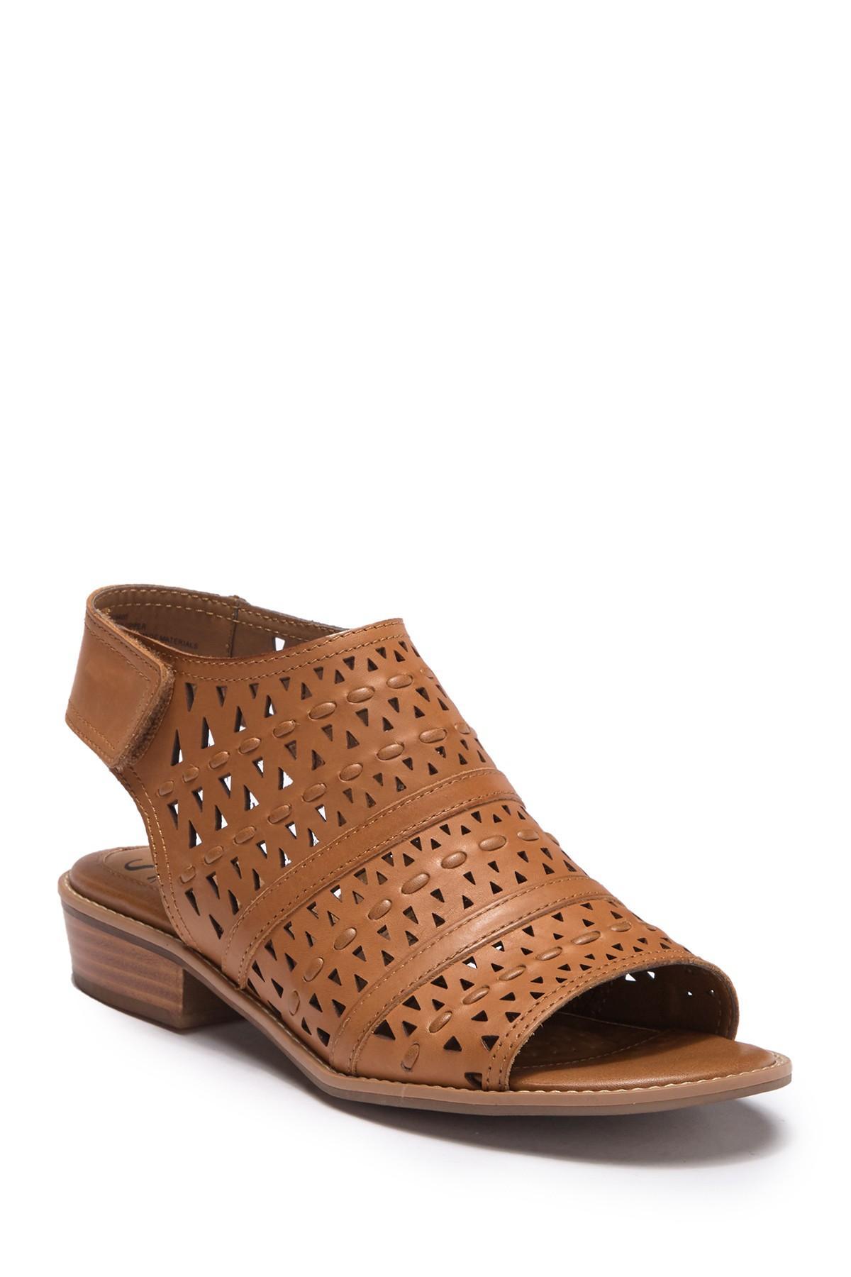 f359cb24 Söfft Brown Natalee Perforated Peep Toe Sandal