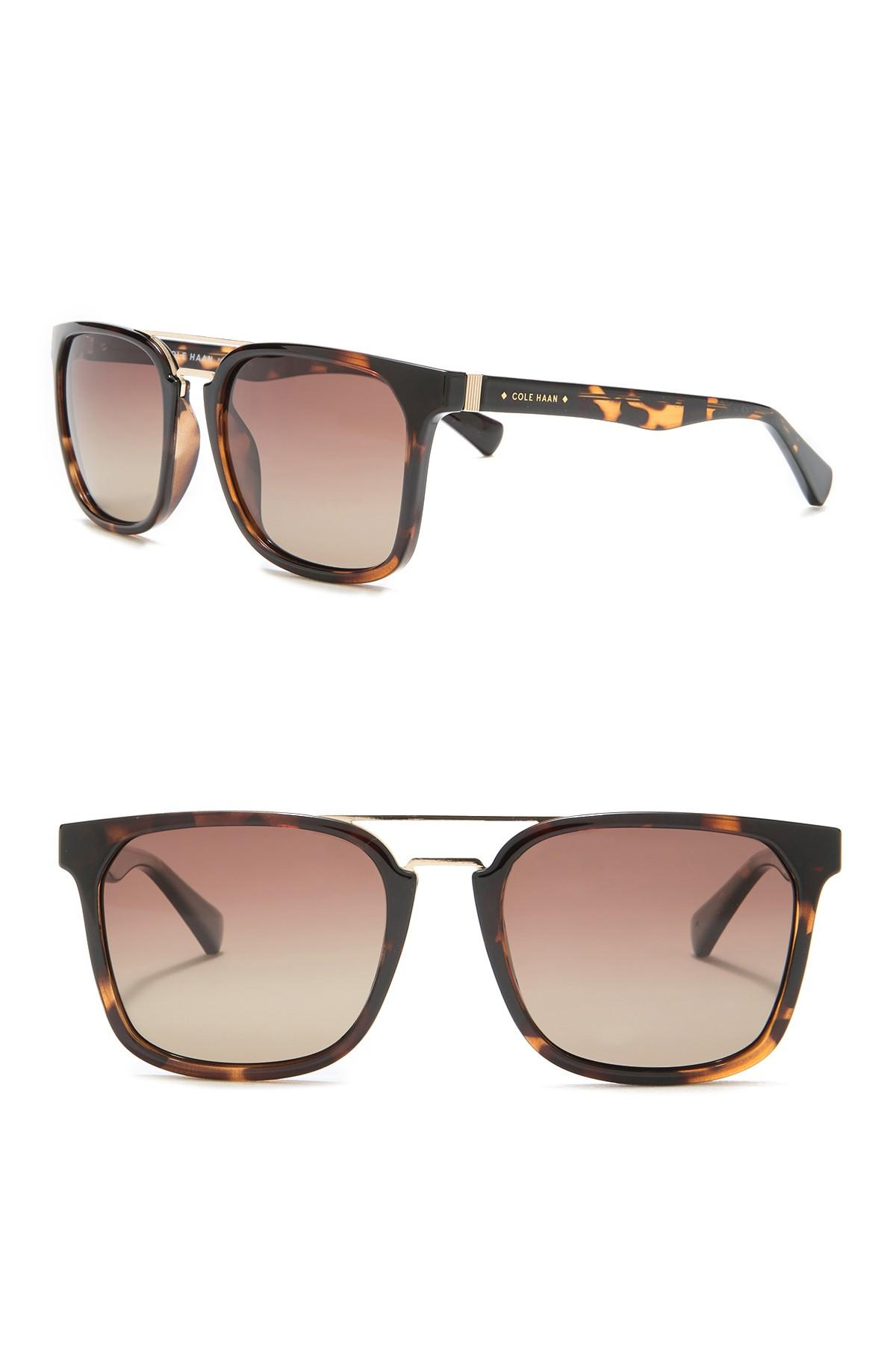 4807d38d9df3a Cole Haan - Brown Browbar 54mm Sunglasses for Men - Lyst. View fullscreen