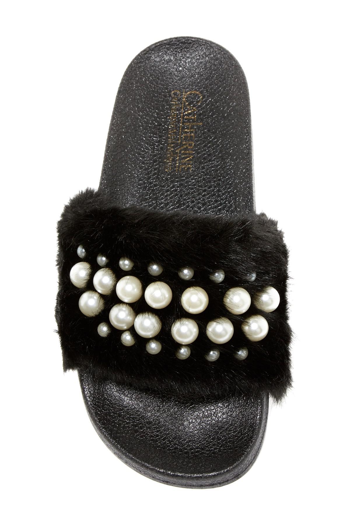 Lyst Catherine Malandrino Mermaid Faux Fur Slide Sandal