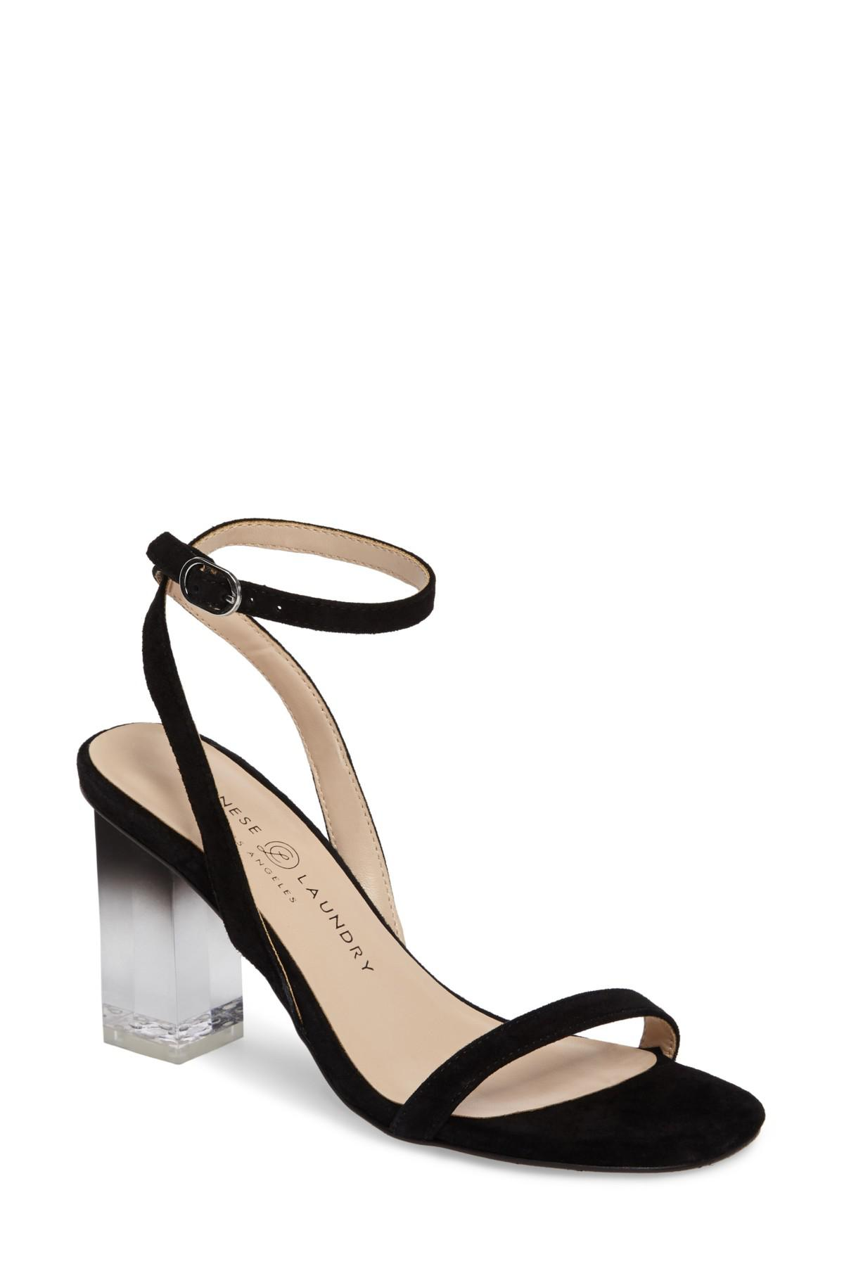 Chinese Laundry Shanie Clear Heel Leather Sandal Gm1DWDxH