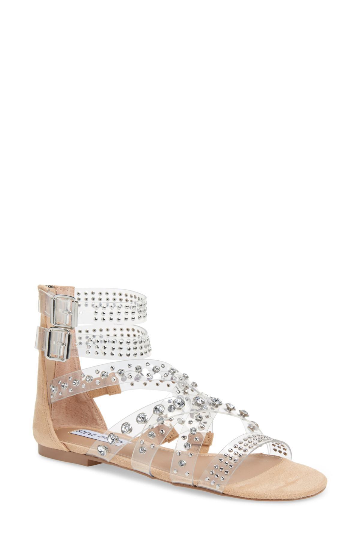 170179df9e5 Lyst - Steve Madden Shift Embellished Gladiator Sandal (women) in White
