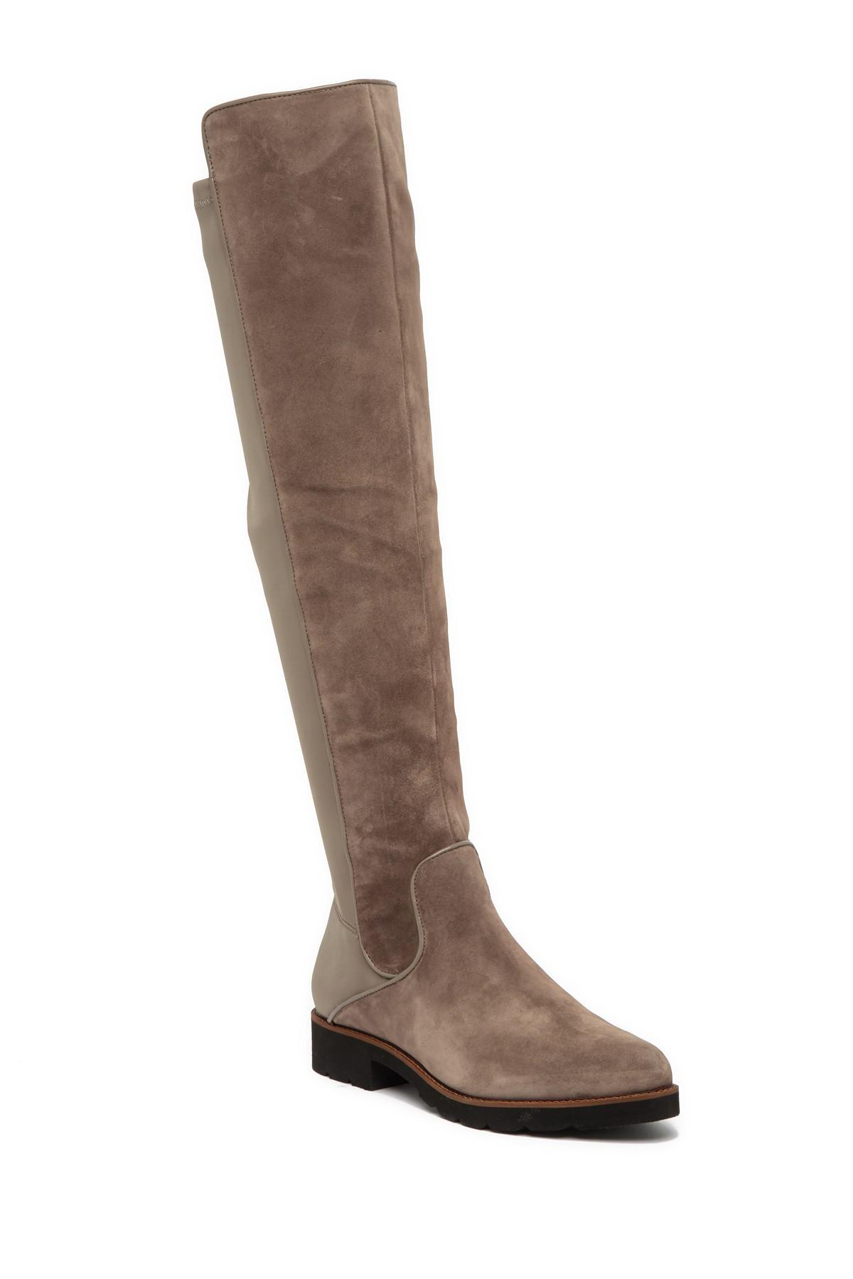 26ae1a8a6aa Lyst - Franco Sarto Benner Leather Over-the-knee Boot in Brown