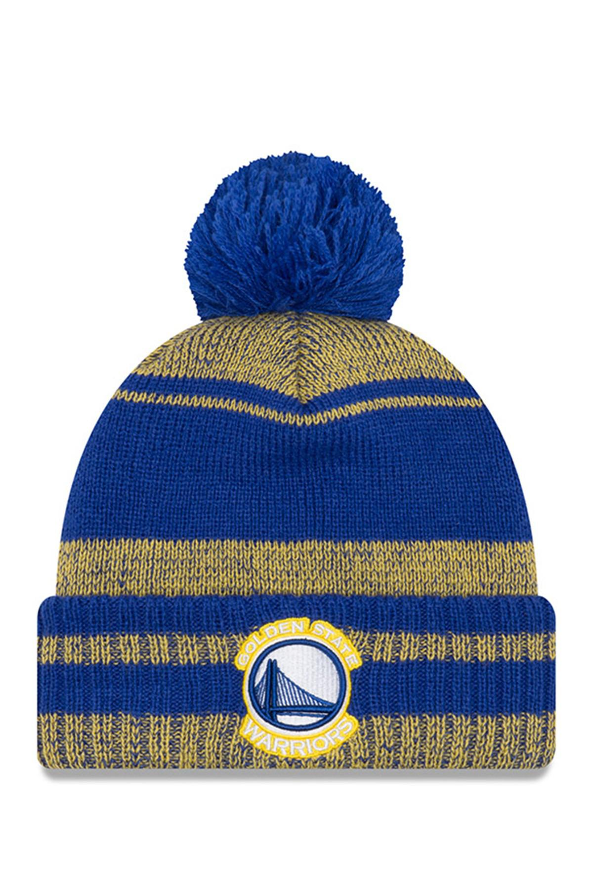 77171779a Lyst - KTZ Nfl Golden State Warriors Glacial Pom Knit Beanie in Blue ...