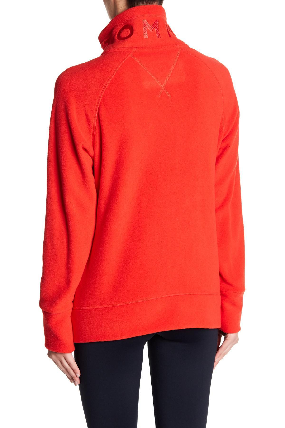 lyst tommy hilfiger front logo pullover in red. Black Bedroom Furniture Sets. Home Design Ideas