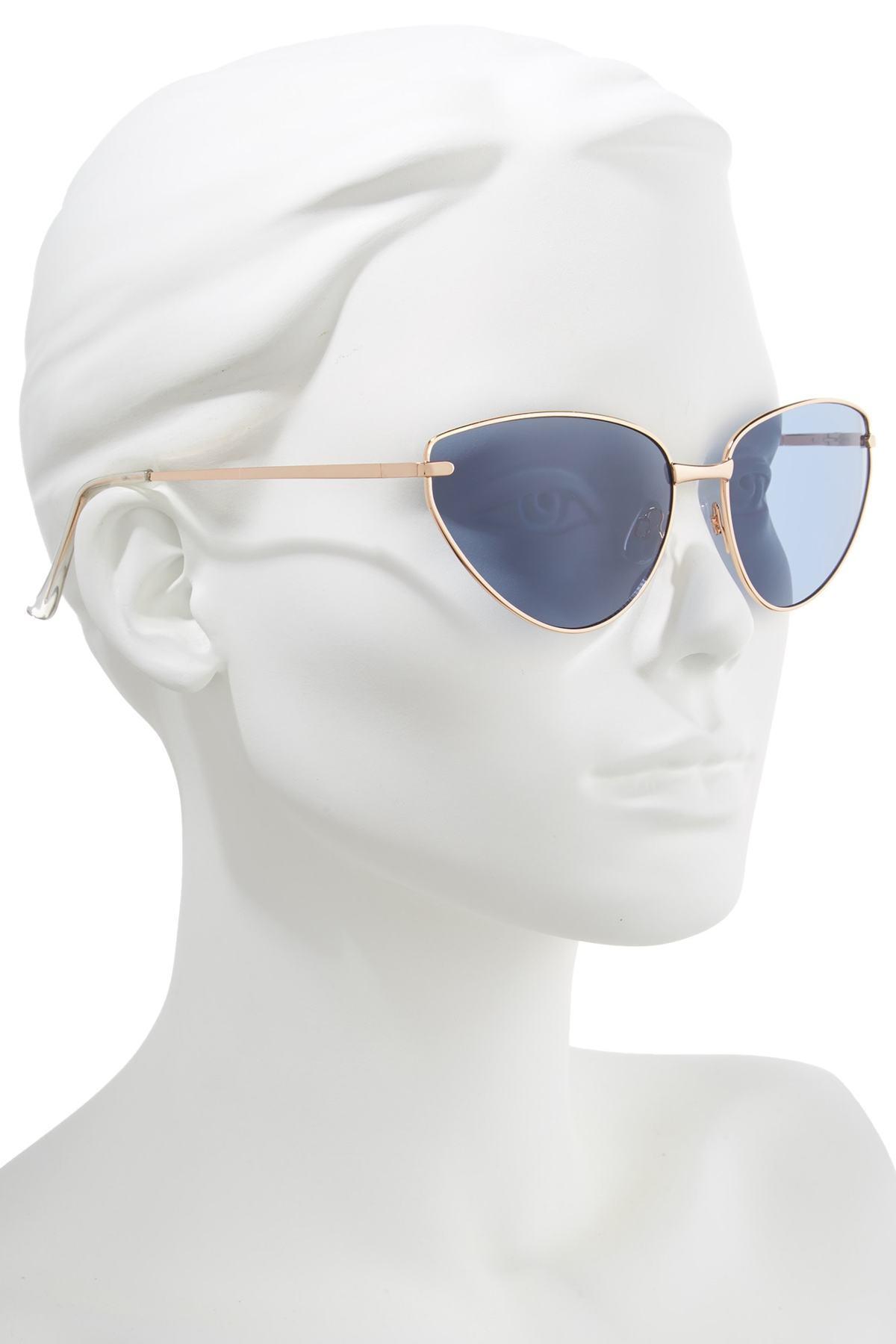 1631a96a4d0da Leith - Blue 62mm Flat Cat Eye Sunglasses - Lyst. View fullscreen