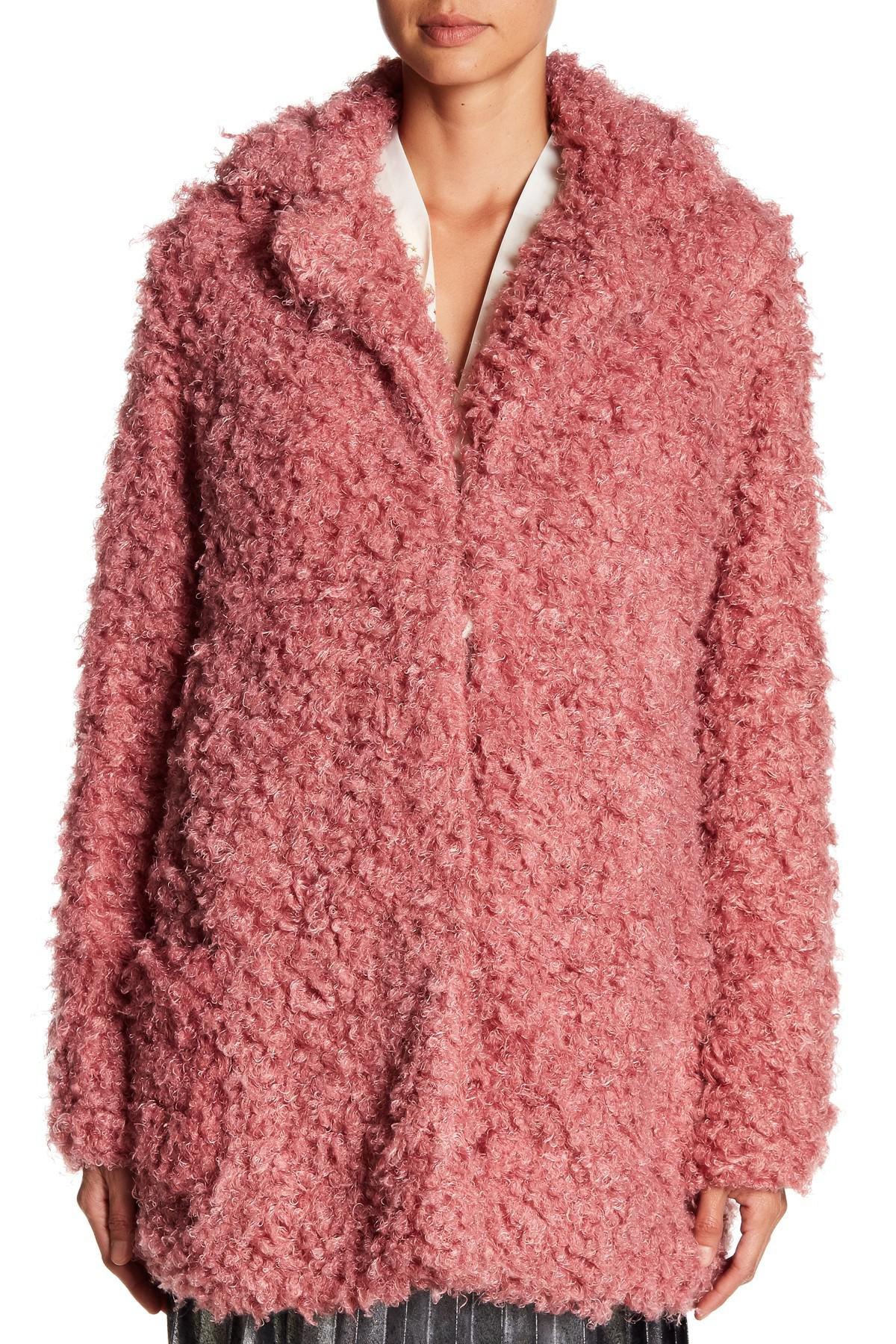 21e1e6544 Romeo and Juliet Couture Multicolor Fuzzy Faux Fur Jacket