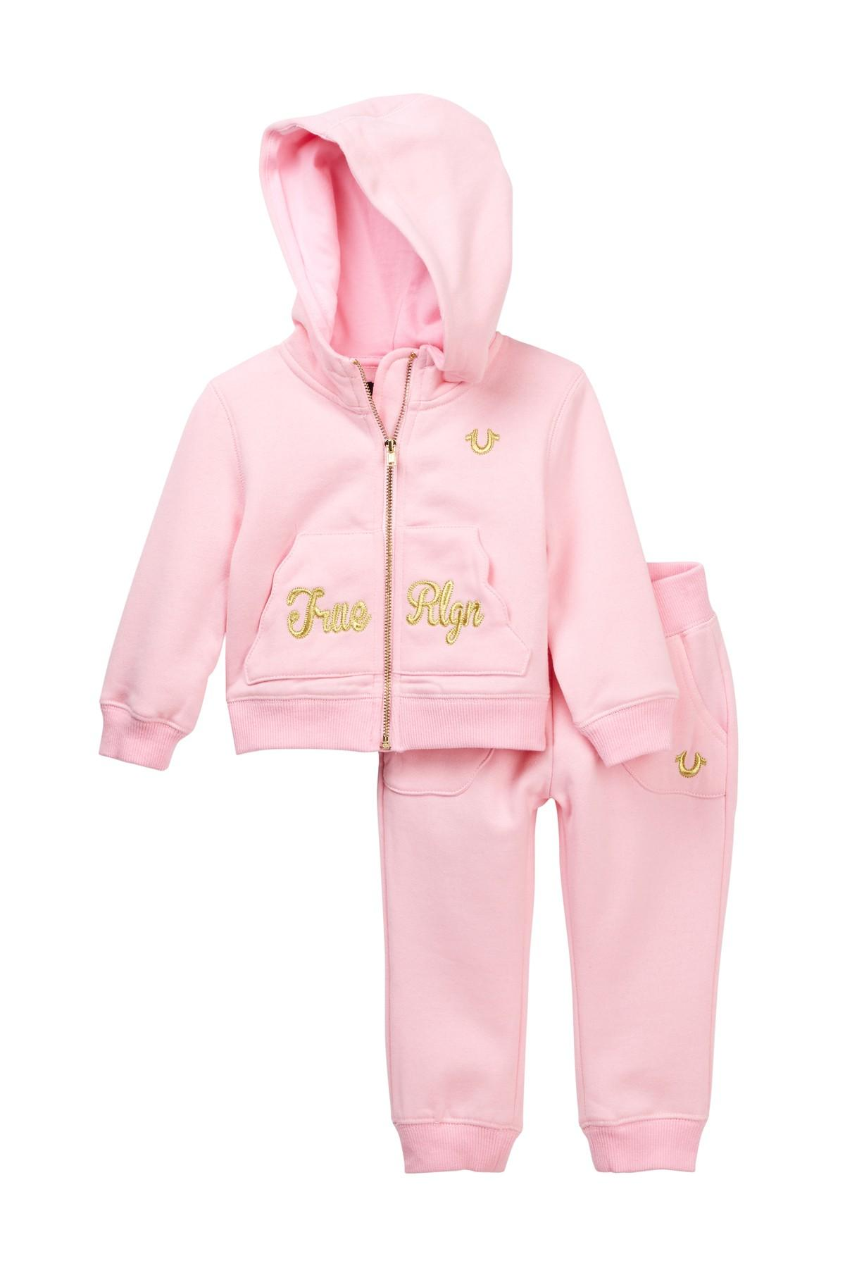 99ae4cc01 Lyst - True Religion Hoodie   Pants Box Set (baby Girls) in Pink